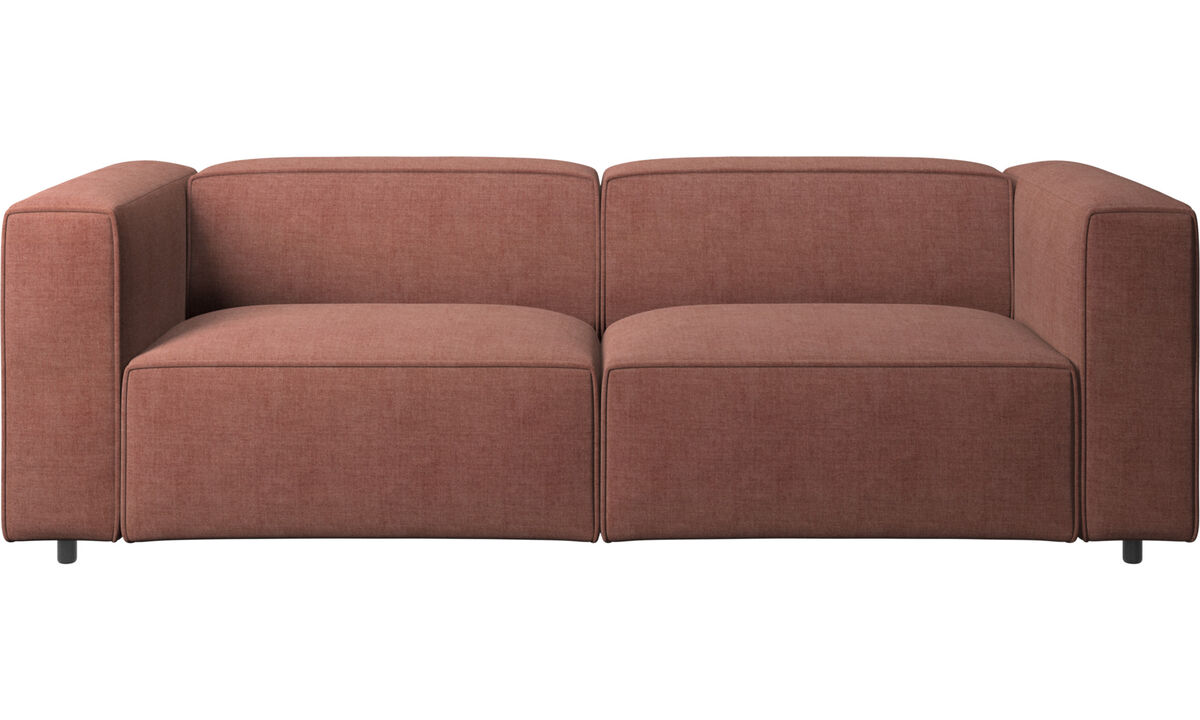 2.5 seater sofas - Carmo sofa - Red - Fabric