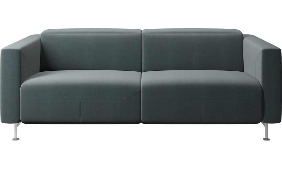 2 seater sofas - Parma reclining sofa - Blue - Fabric
