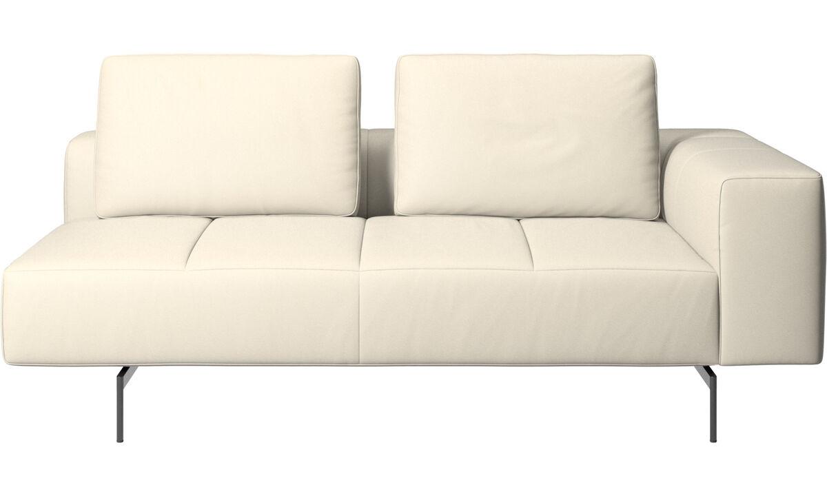 Sofás modulares - Módulo de assento 2,5 Amsterdam, apoio de braço direito - White - Couro