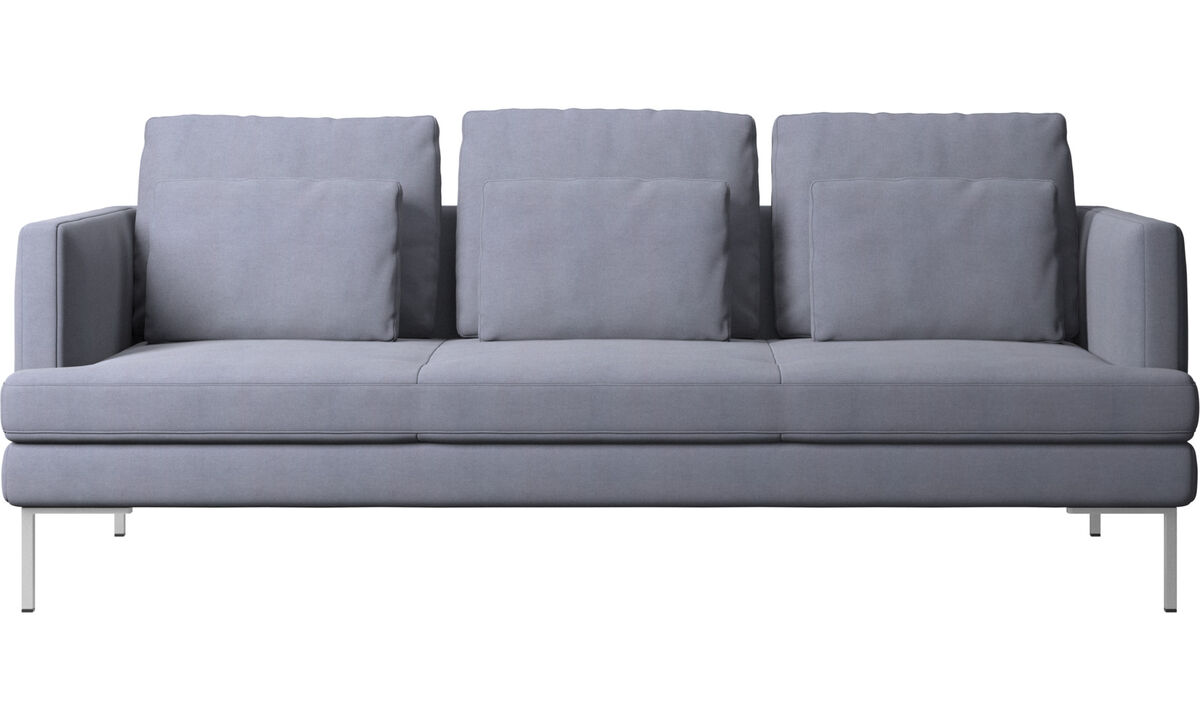3 seater sofas - Istra 2 divano - Blu - Tessuto