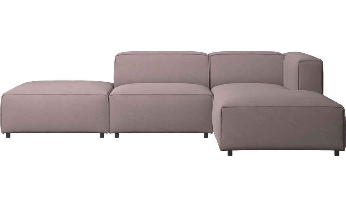Sofás modulares - Sofá Carmo con módulo chaise-longue - Morado - Tela