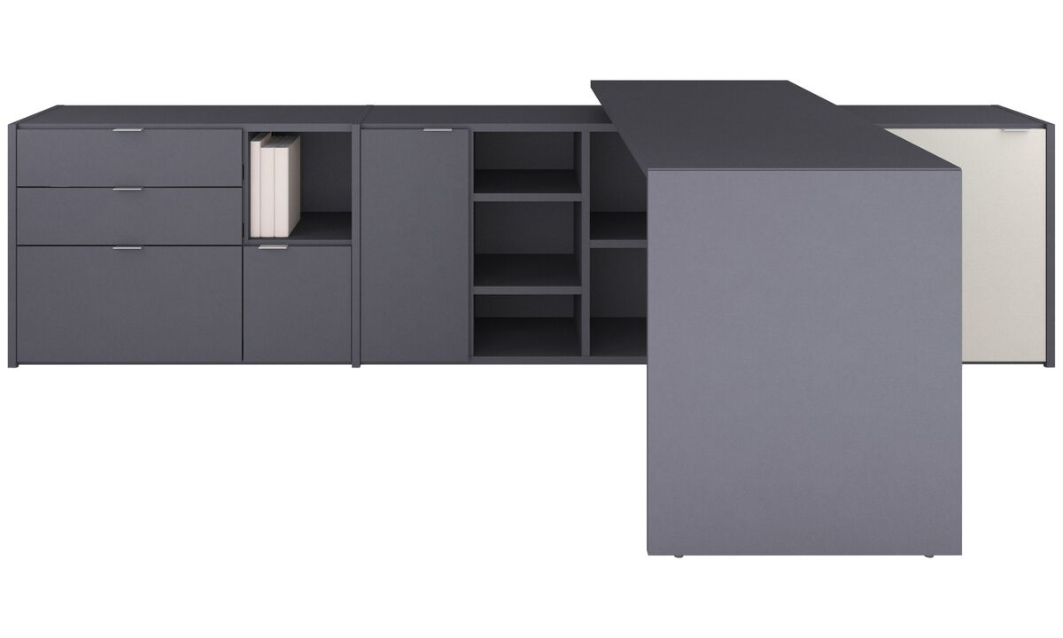 Desks - Copenhagen office system - Gray - Lacquered