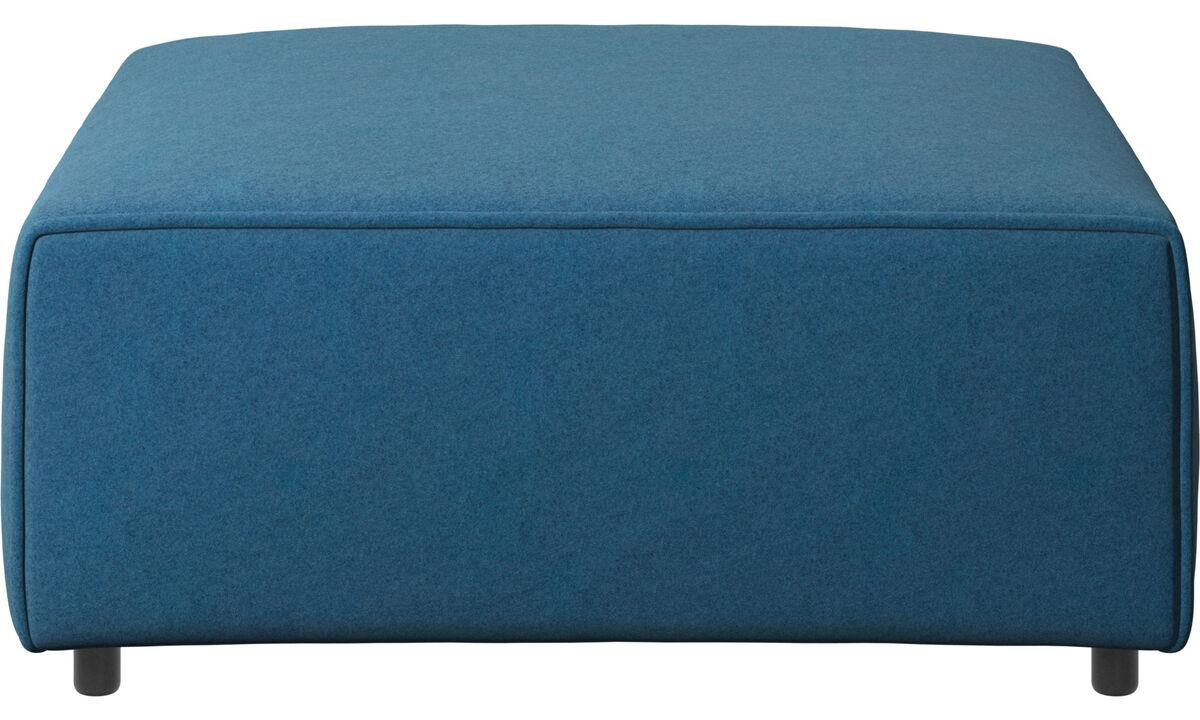 モジュール式ソファ - Grosso フットスツール - ブルー - ファブリック