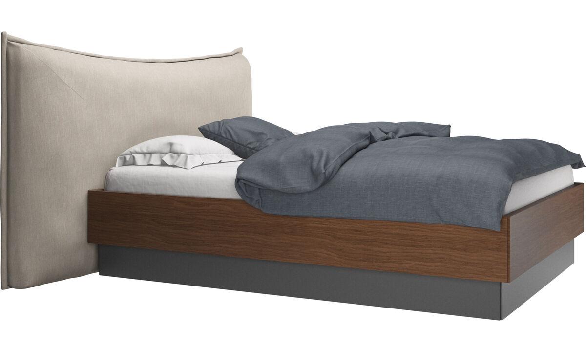 Łóżka - Łóżko ze schowkiem Gent, z podnoszonym materacem i stelażem, cena bez materaca - Brązowy - Tkanina