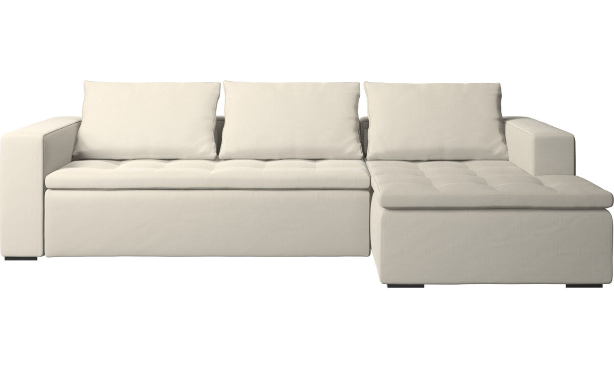 Chaise lounge sofas - Mezzo sofa with resting unit - White - Fabric