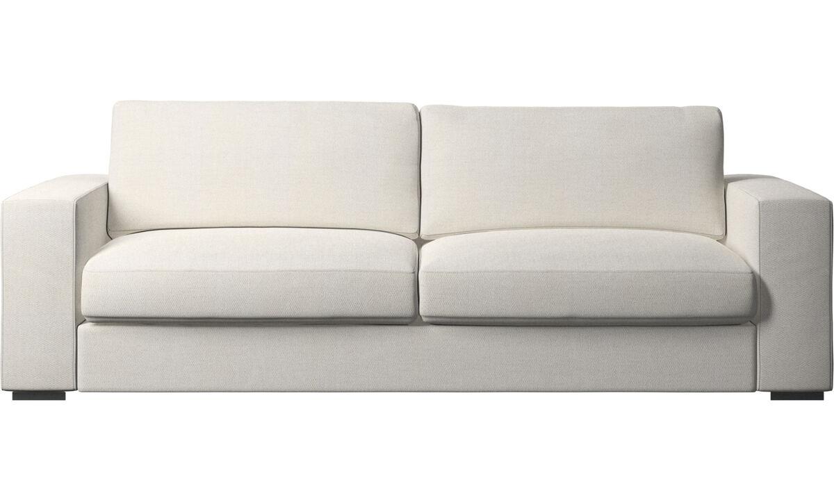 Sofy 3-osobowe - sofa Cenova - Biały - Tkanina