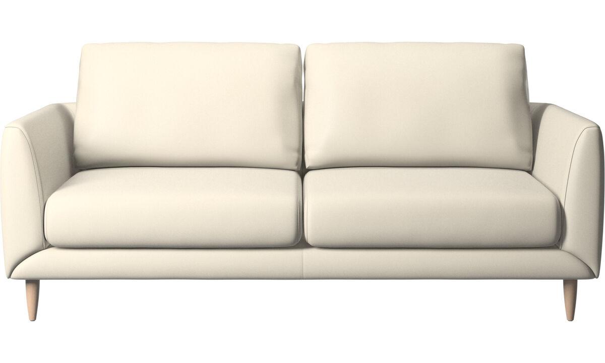 2.5 seater sofas - Fargo sofa - White - Leather