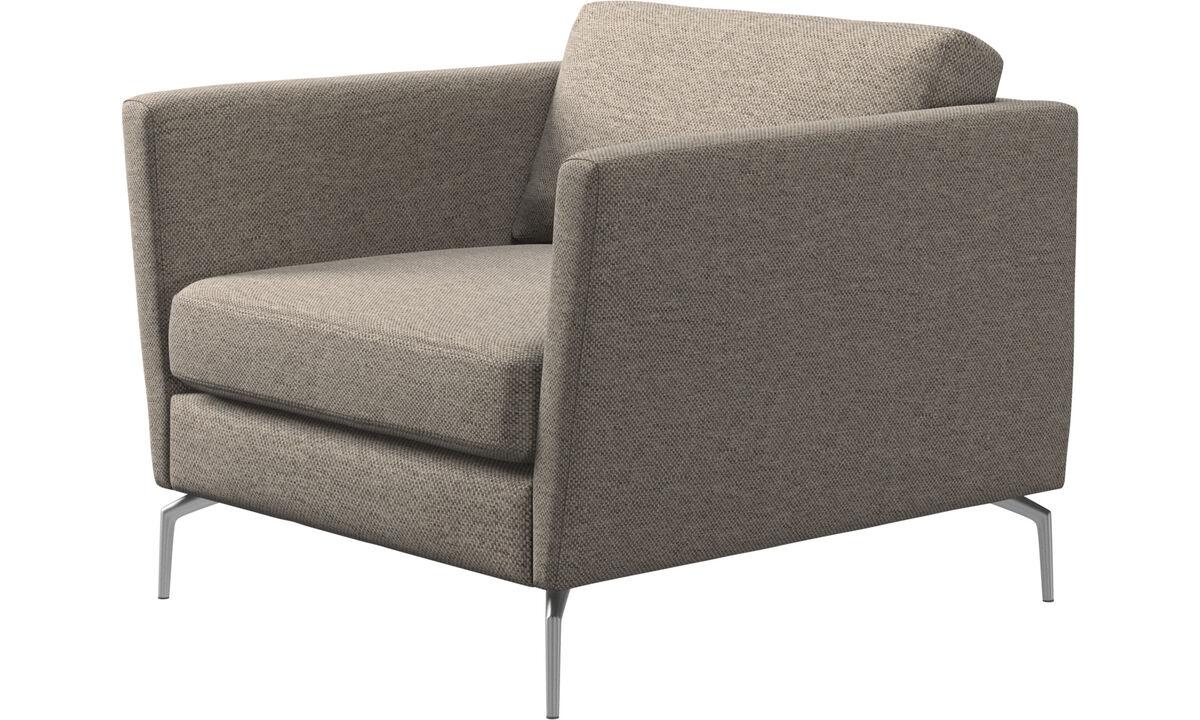 Armchairs - Osaka chair, regular seat - Beige - Fabric