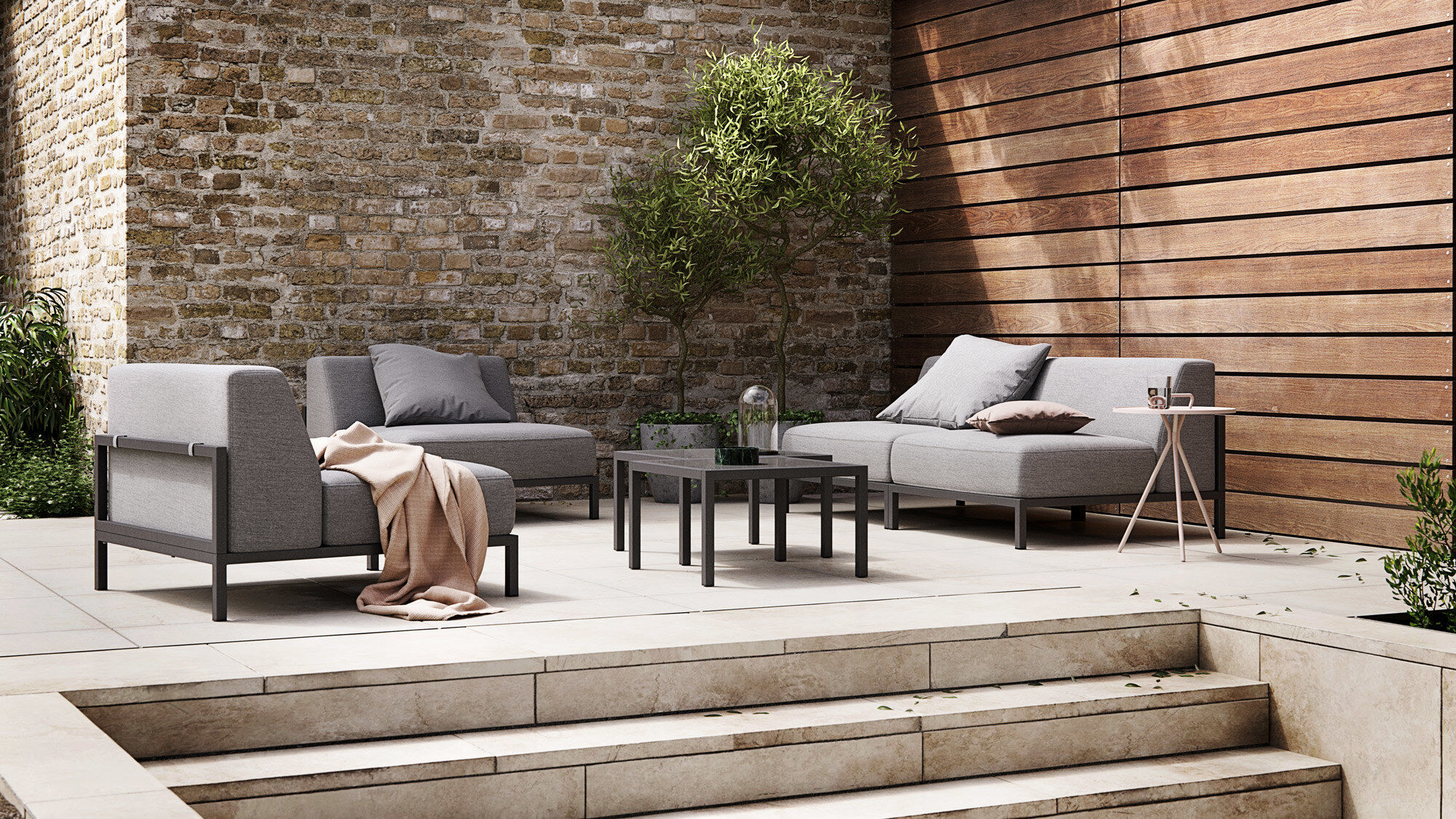 Designs by Henrik Pedersen - Rome outdoor sofa