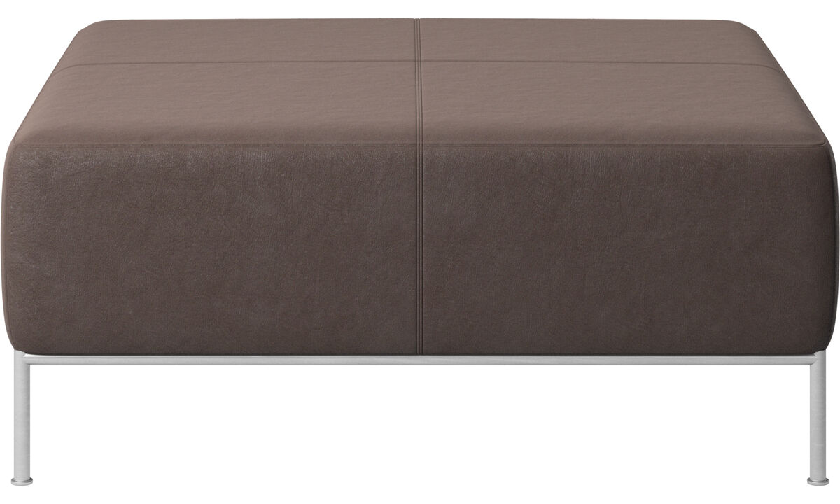 Modular sofas - Miami footstool - Brown - Leather
