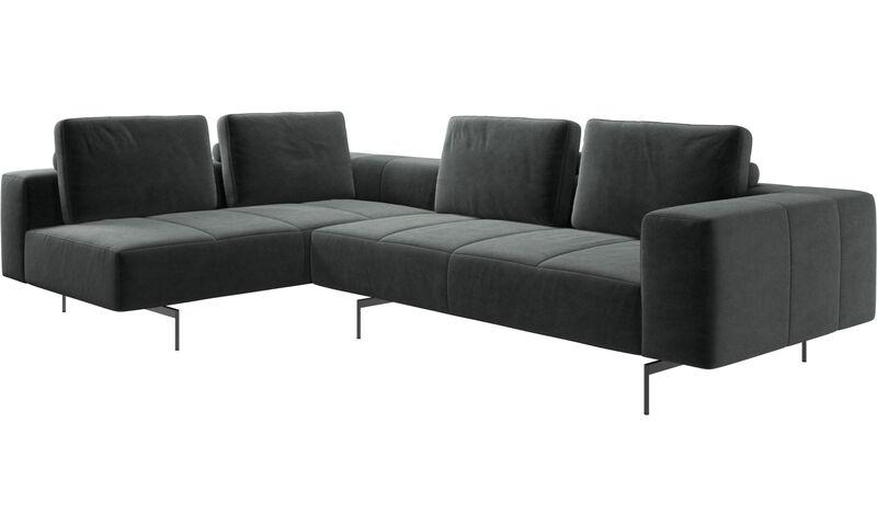 Corner sofas - Amsterdam corner sofa with lounging unit - BoConcept
