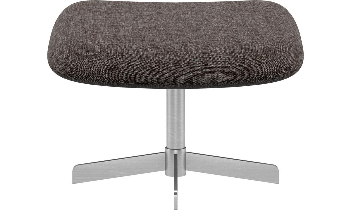Footstools - Athena footstool - Brown - Fabric