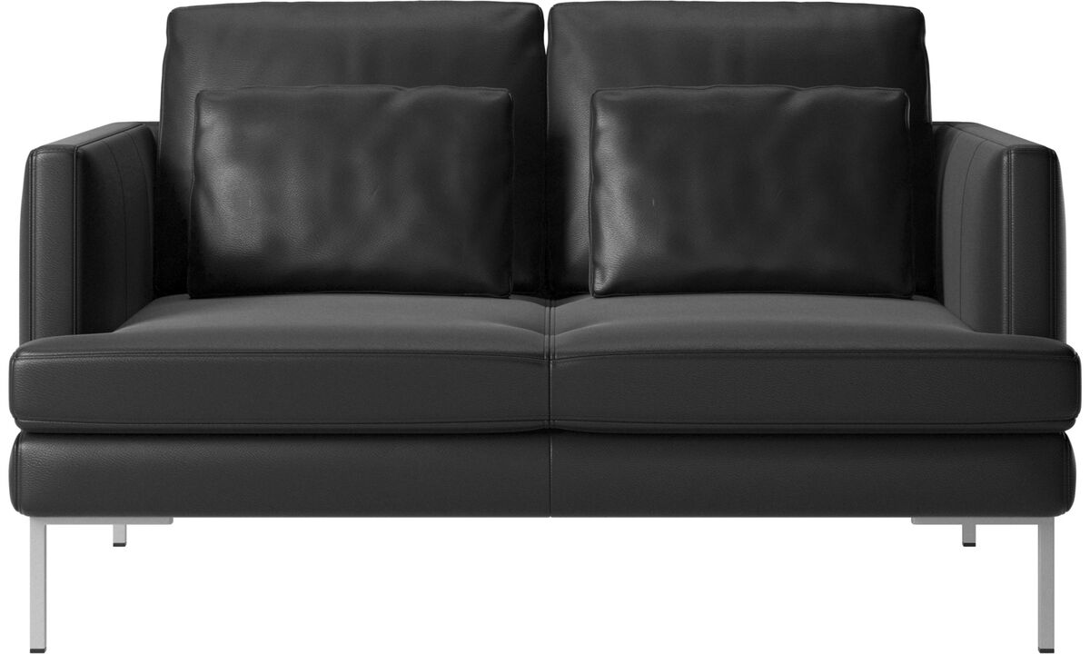 New designs - Istra 2 sofa - Black - Leather