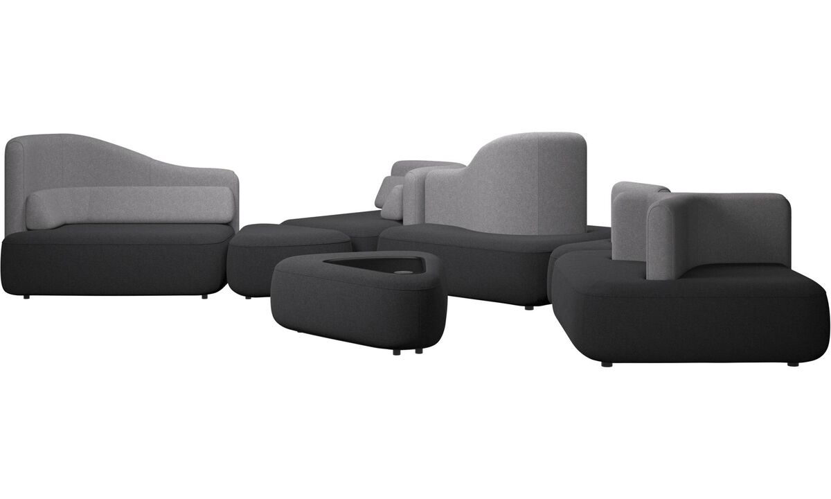 Modular sofas - Ottawa sofa - Grey - Fabric