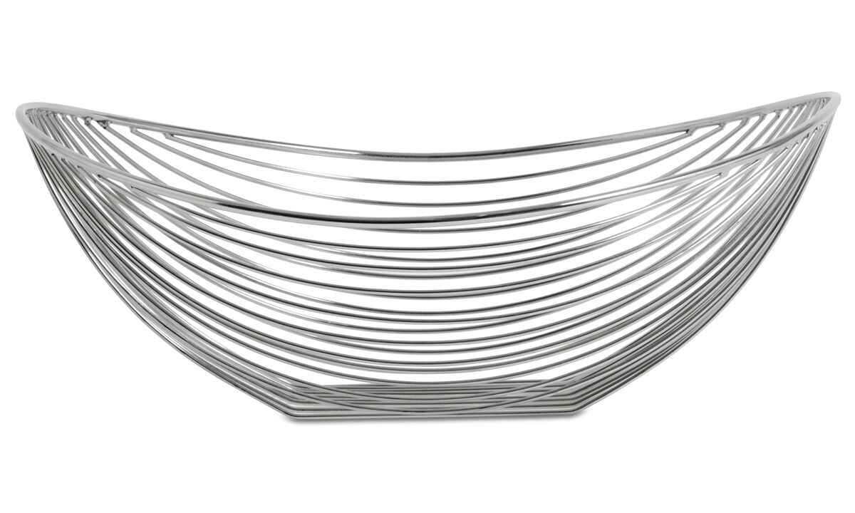 Decoration - Line organic dish - Grey - Metal