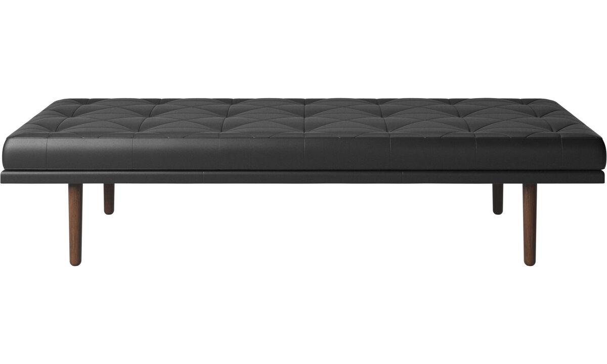 Divanes - Sofá-cama fusion - En negro - Piel