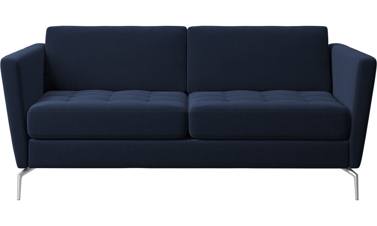 Sofas - Osaka sofa, tufted seat - Blue - Fabric