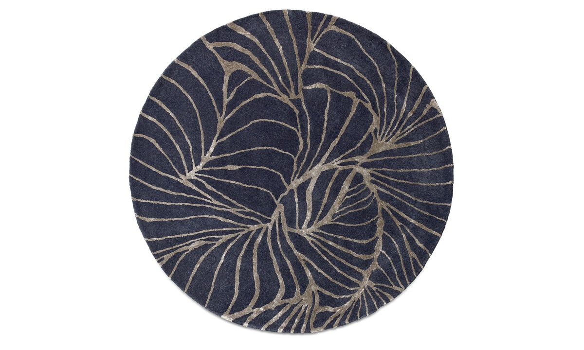 Ronde karpetten - Ankara karpet - rond - Blauw - Stof