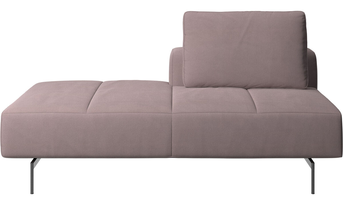Sofas with open end - Amsterdam Iounging module for sofa, back rest right, open end left - Purple - Fabric