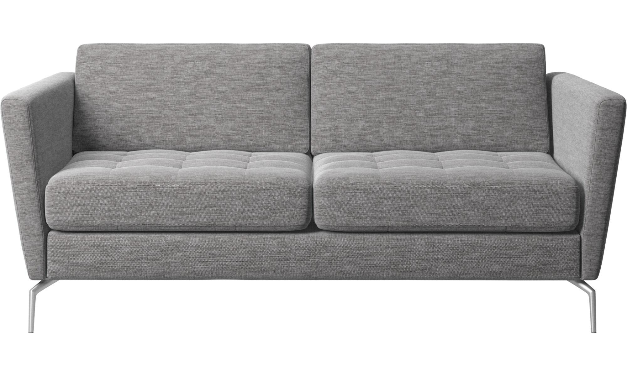 New Designs   Osaka Sofa, Tufted Seat   Gray   Fabric