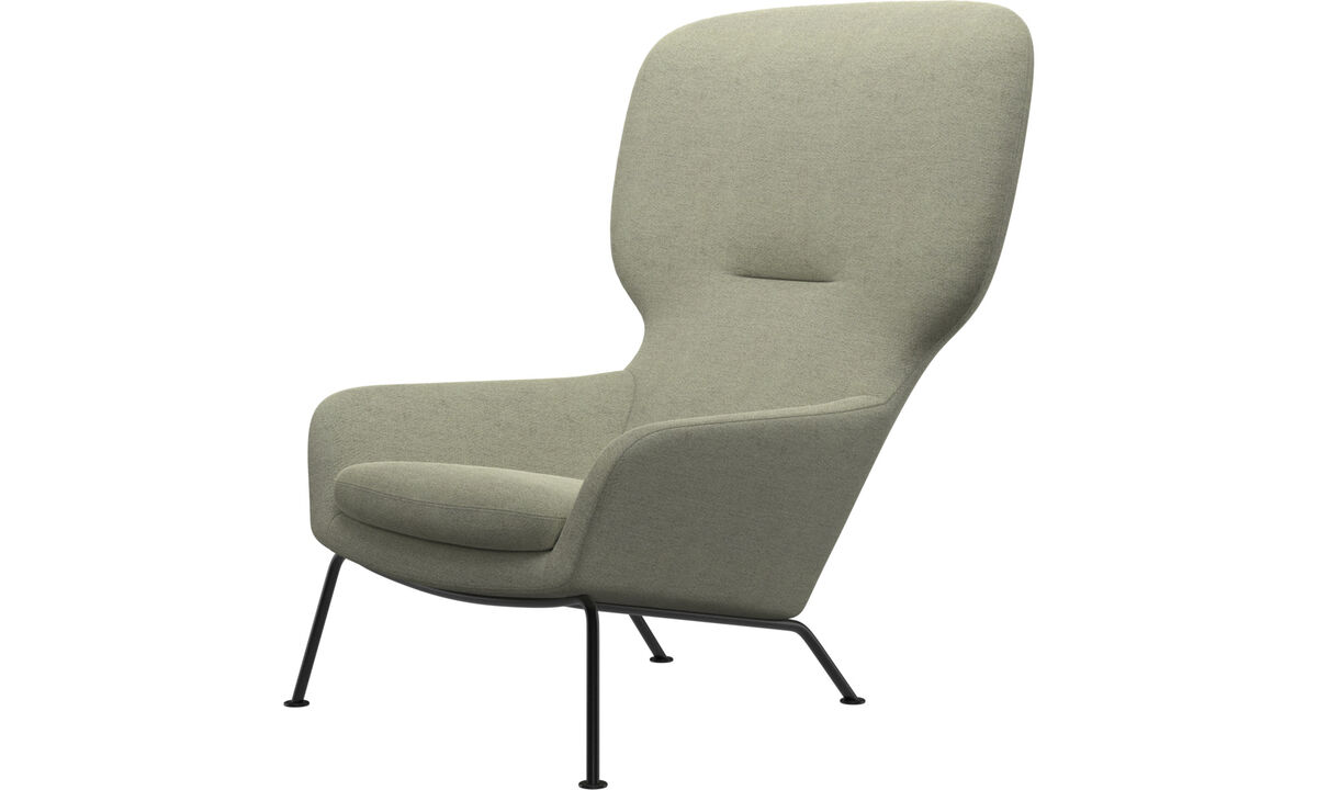 Armchairs - Dublin chair - Green - Fabric