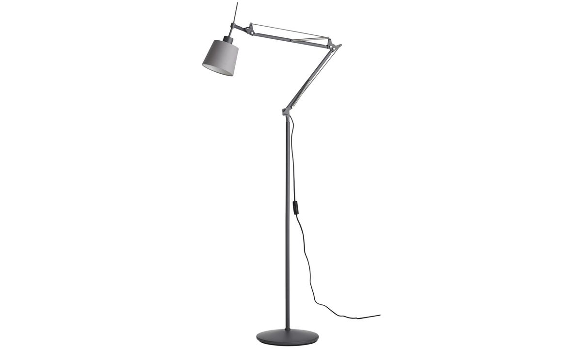 Floor lamps - Berlin floor lamp - Grey - Metal