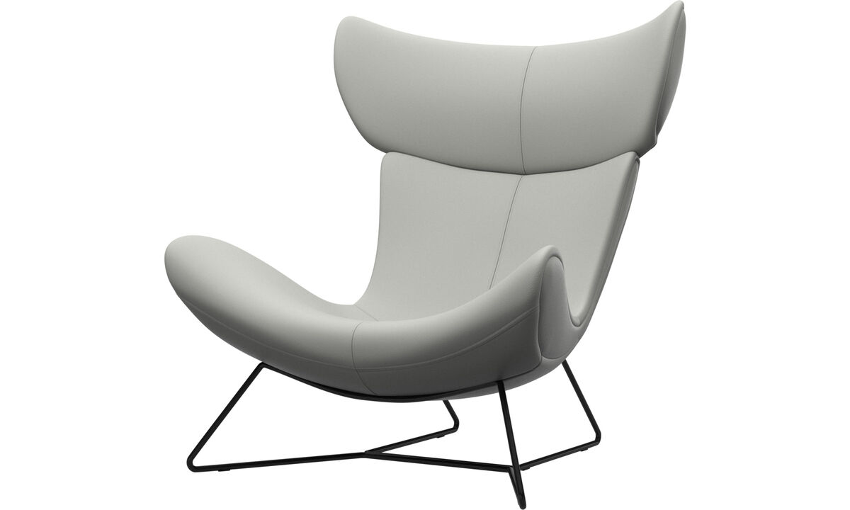 Armchairs - Imola chair - White - Leather