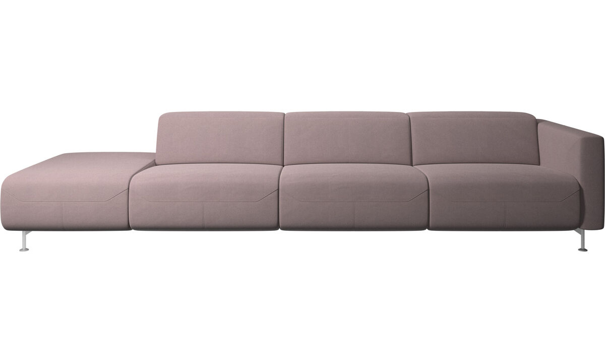 Sofas with open end - Parma reclining sofa with open end - Purple - Fabric