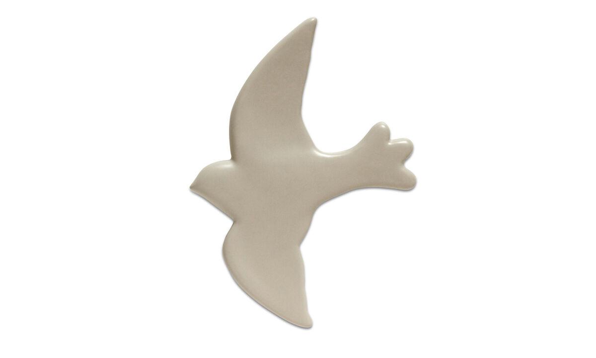 Decoração - decoração para parede Bird - Cinza - Cerâmico