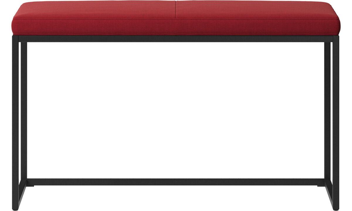 Bænke - London lille bænk med hynde - Rød - Stof