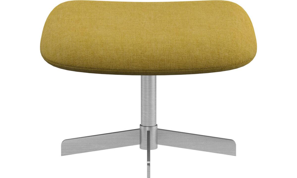 Footstools - Athena footstool - Yellow - Fabric