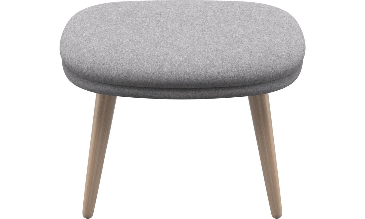 Ottomans - Adelaide footstool - Grey - Fabric