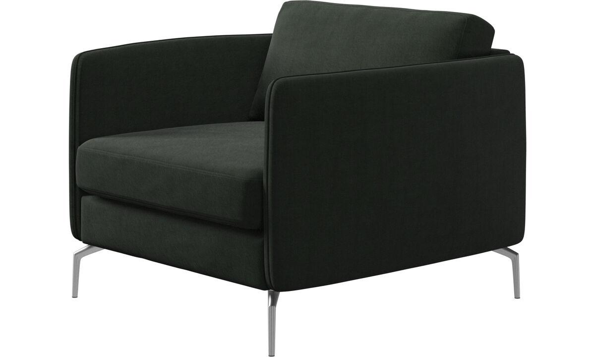 Armchairs - Osaka chair, regular seat - Green - Fabric
