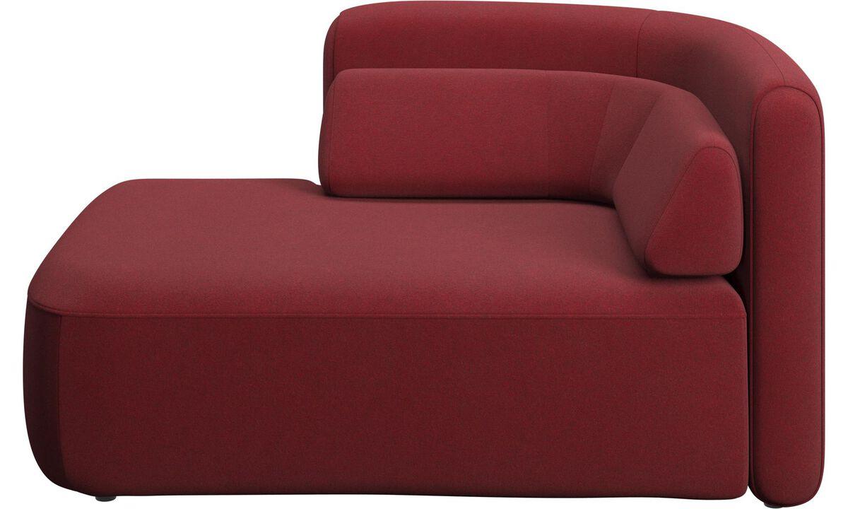 Modulære sofaer - Ottawa 1,5 personers open end venstre side - Rød - Stof