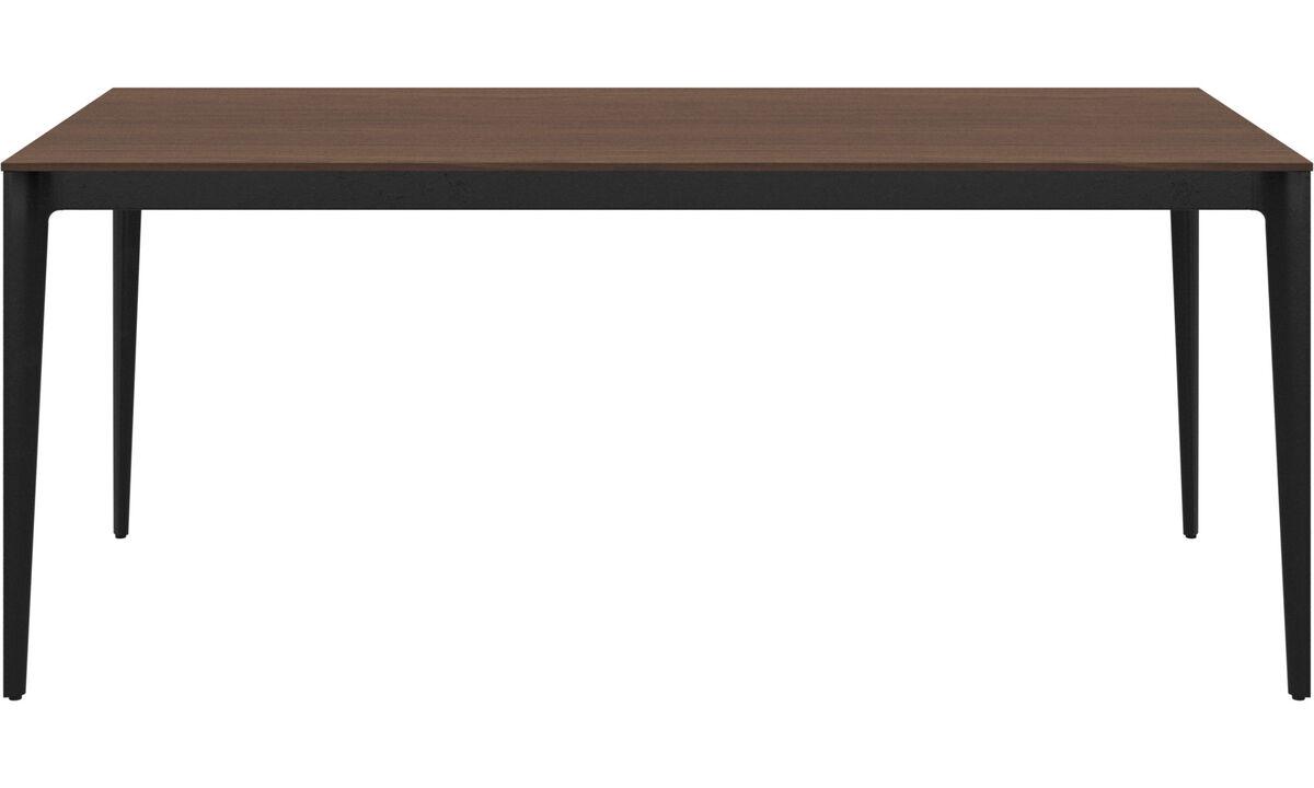Mesas de reuniones - Mesa Torino - rectangular - En marrón - Nogal