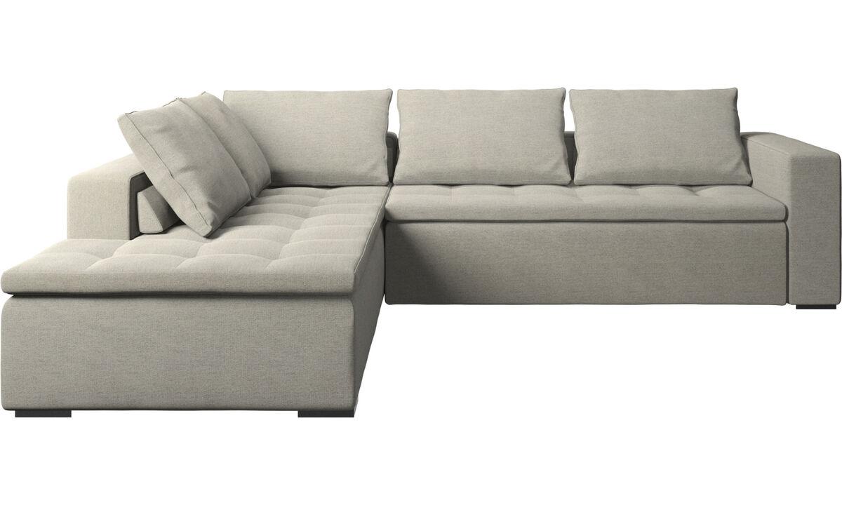 Sofás con lado abierto - sofá esquinero Mezzo con módulo de descanso - En beige - Tela