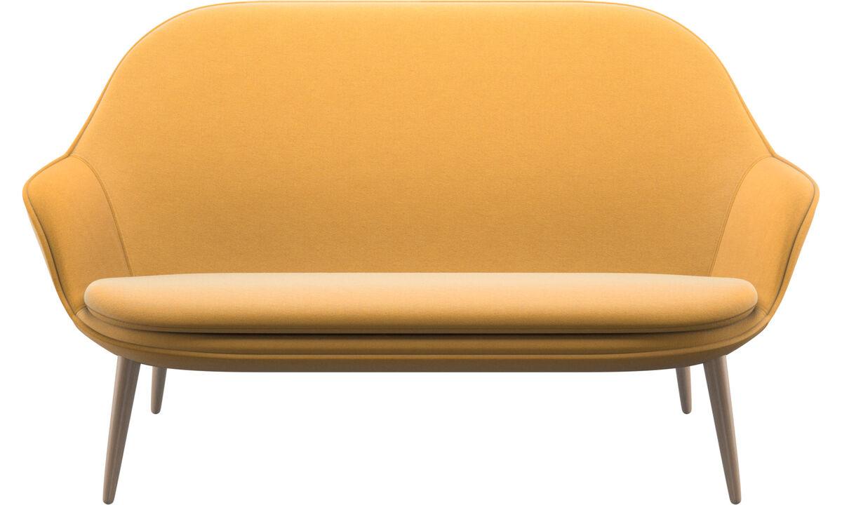 2 seater sofas - Adelaide sofa - Yellow - Fabric