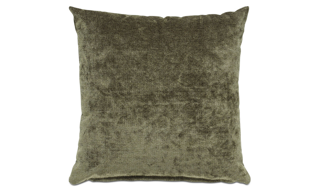 Cushions - Velvet rough cushion - Green - Fabric