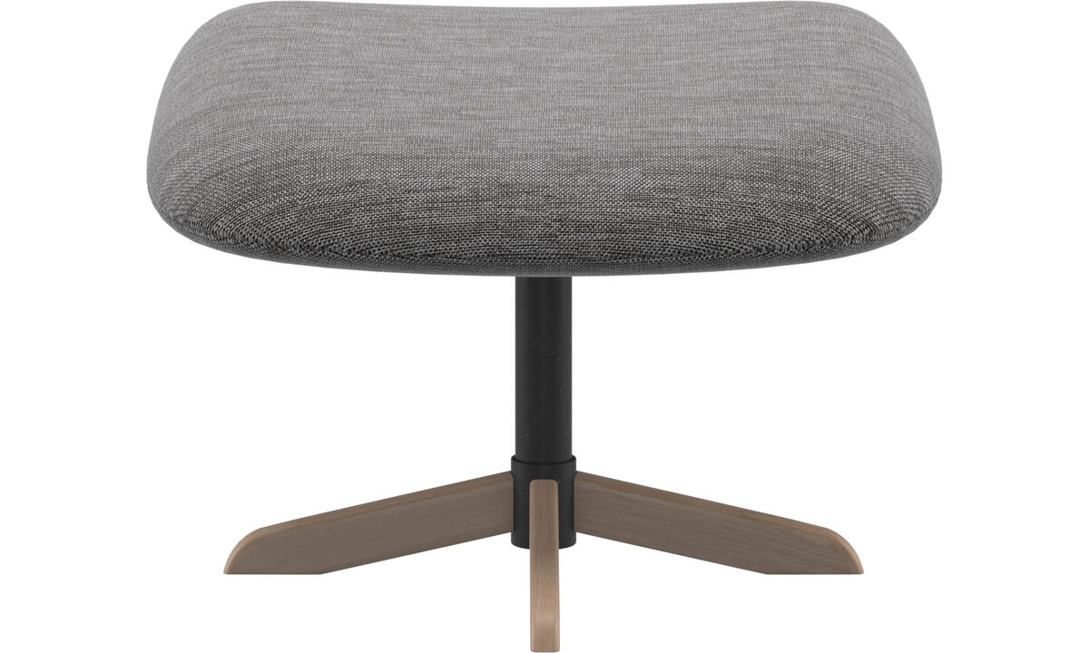 Footstools - Athena footstool - Grey - Fabric