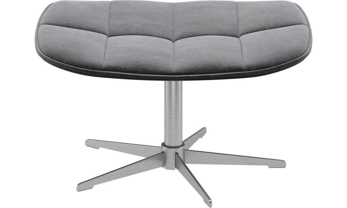 Footstools - Boston footstool - Grey - Fabric