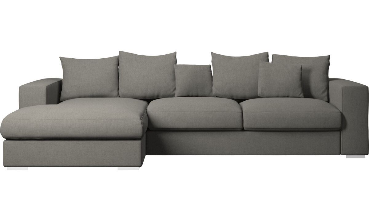 Sofas - Cenova sofa with resting unit - Grey - Fabric