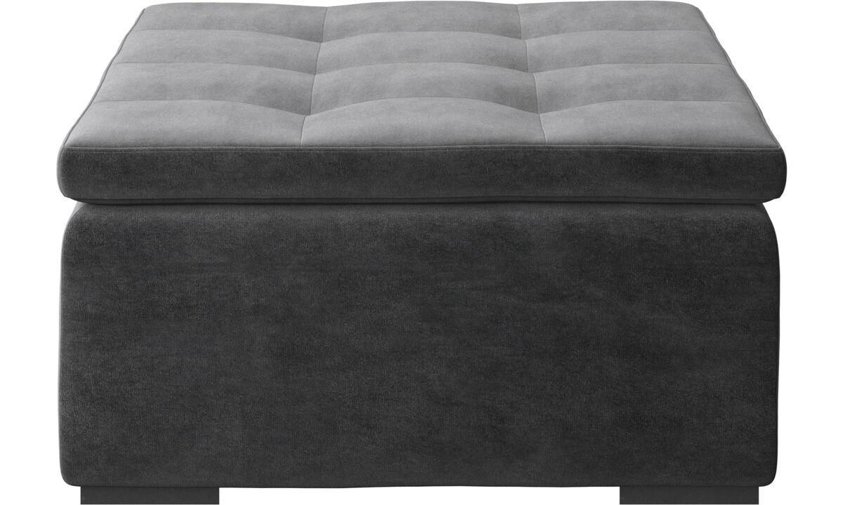 Ottomans - Mezzo ottoman - Gray - Fabric