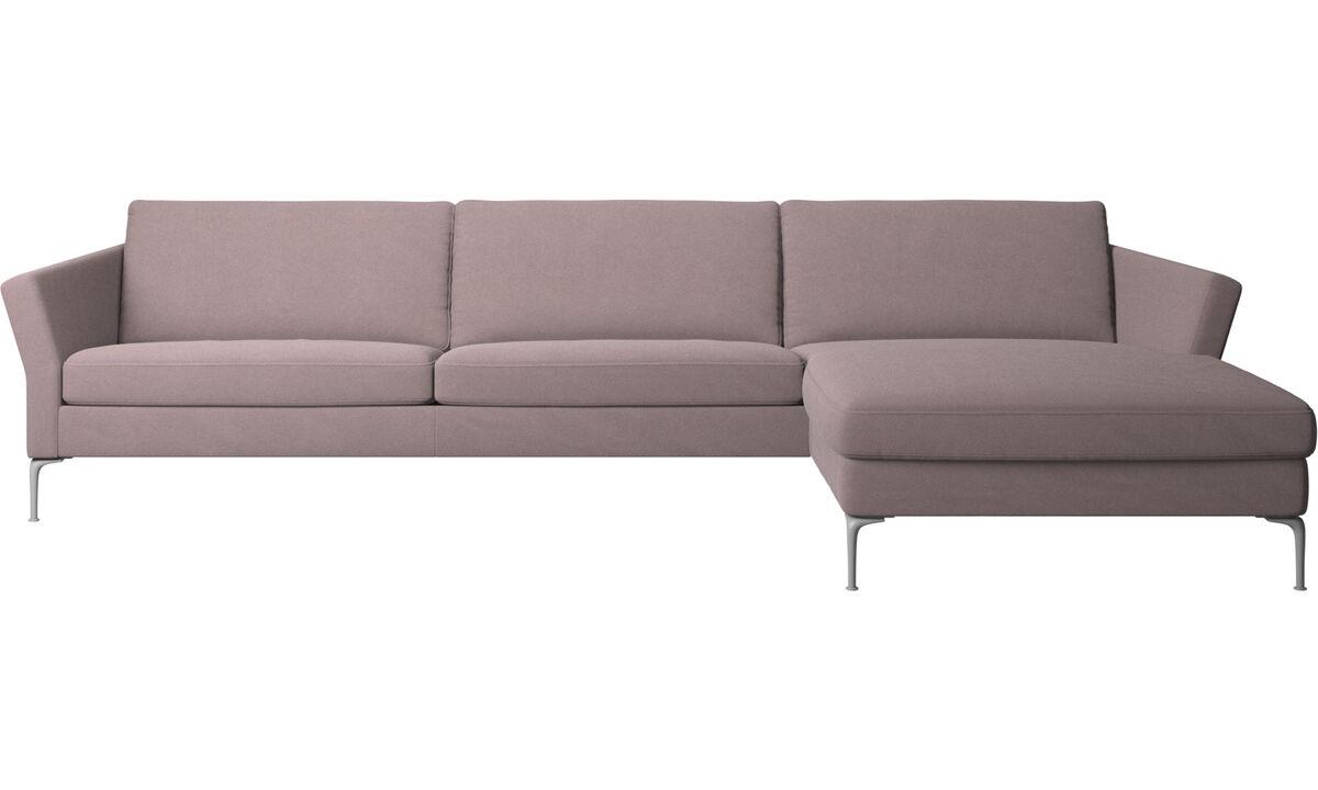 Sofás con chaise longue - sofá Marseille con módulo chaise-longue - Morado - Tela