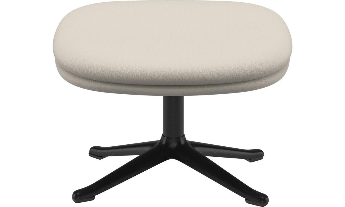 Footstools - Adelaide footstool - White - Leather