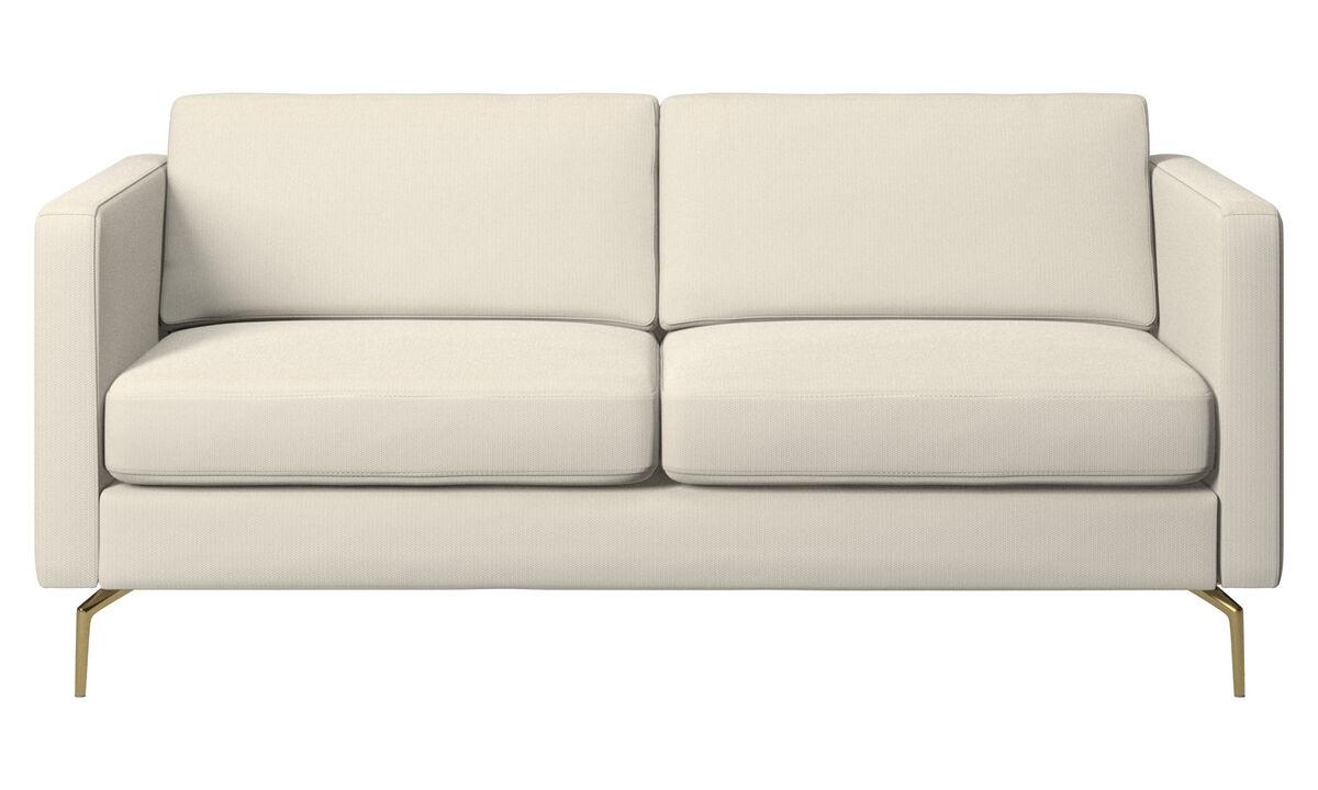 Canapés 2 places - canapé Osaka, assise classique - Blanc - Tissu