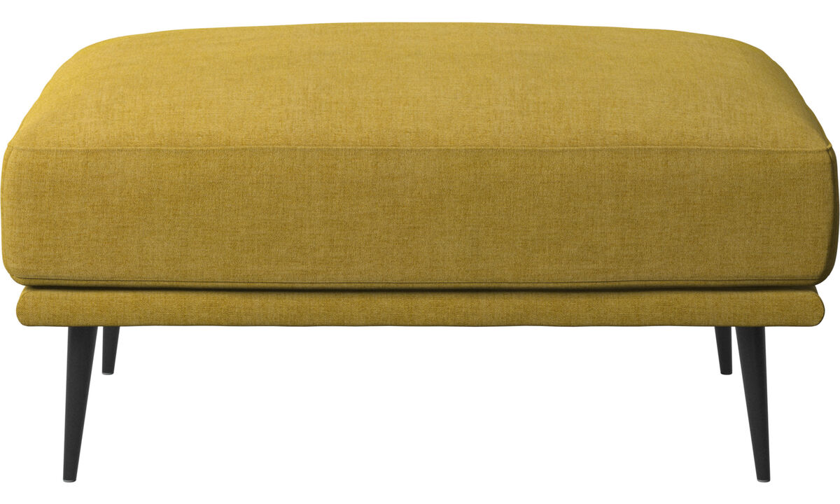 Footstools - Carlton footstool - Yellow - Fabric