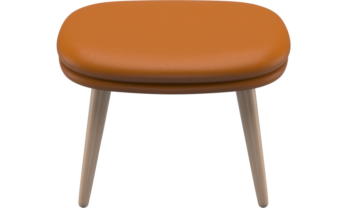 Footstools - Adelaide footstool - Brown - Leather