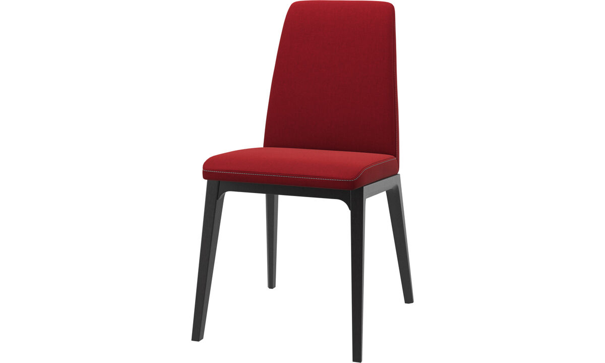 Dining chairs - Lausanne chair - Red - Fabric