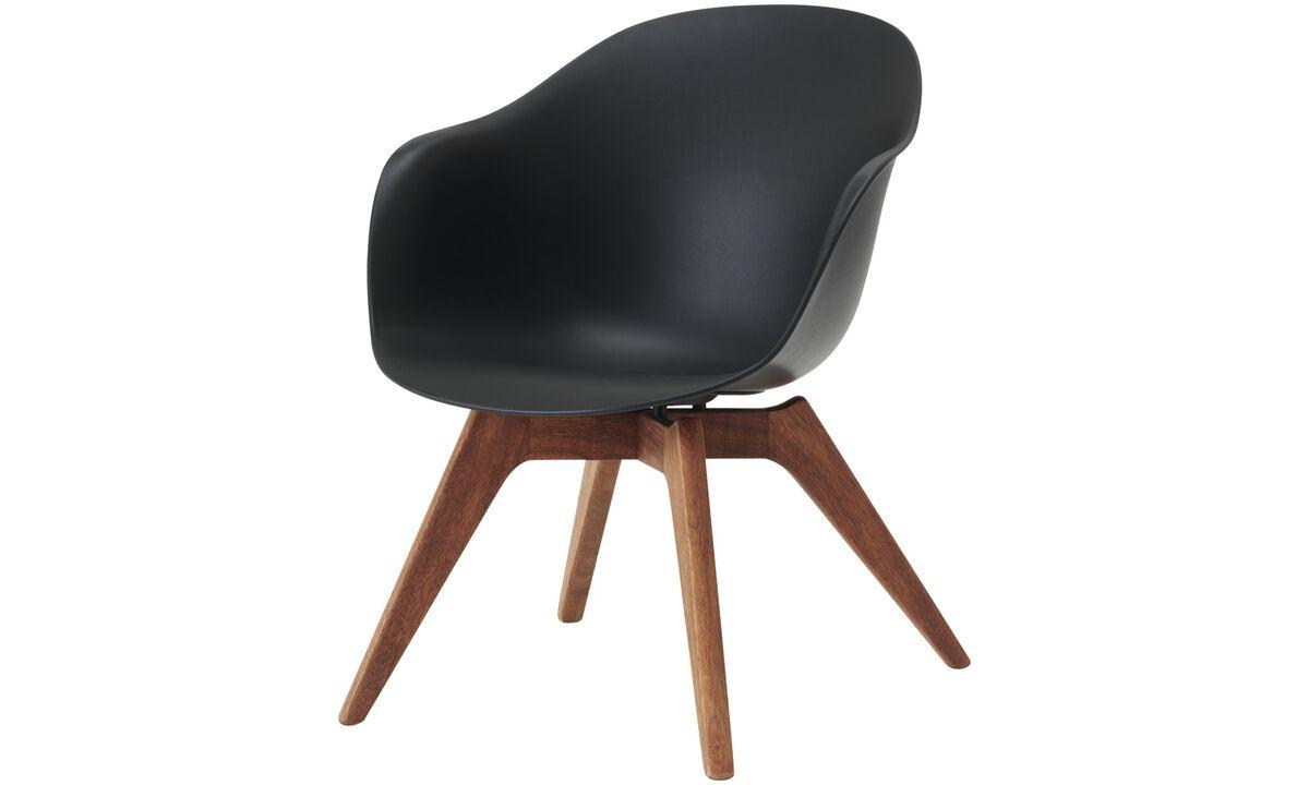 Sillas de exteriores - Silla Adelaide lounge (apta para uso interior y exterior) - En negro - Plástico