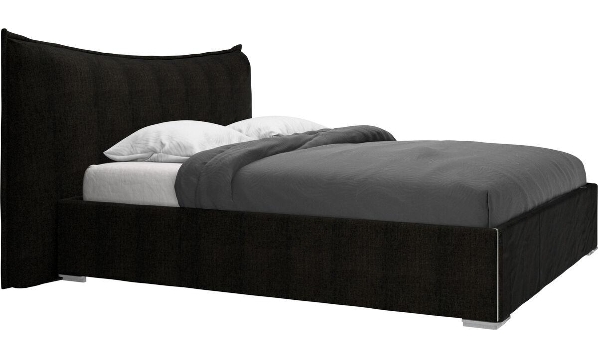 Nuevas camas - cama Gent, no incluye colchón - En marrón - Tela